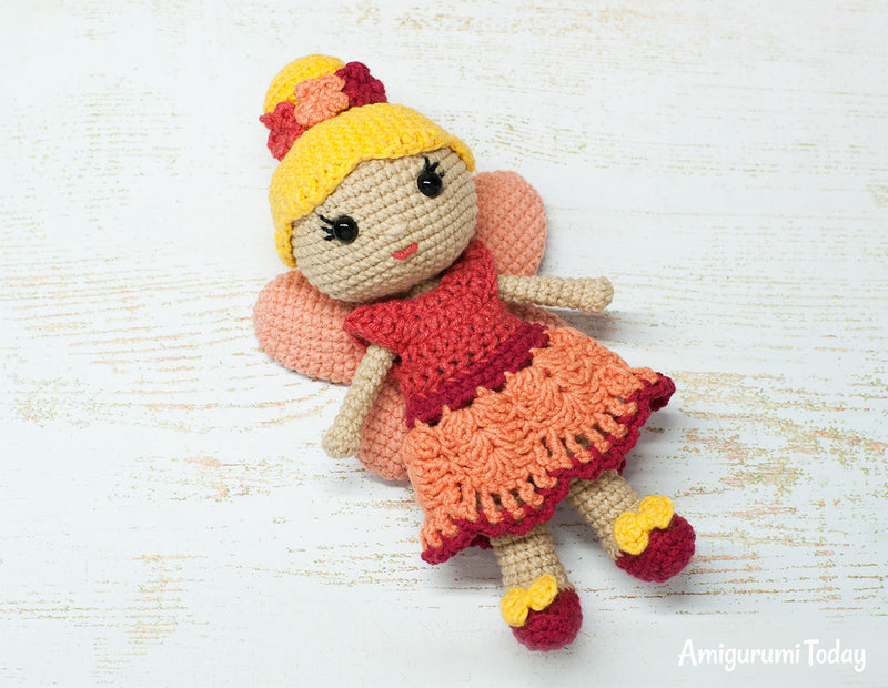 Fairy doll crochet pattern - printable PDF