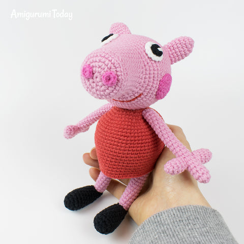 Peppa Pig crochet pattern - printable PDF