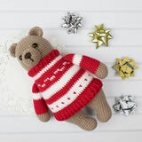 Amigurumi bear in pullover pattern - printable PDF
