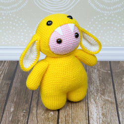Amigurumi baby doll in monster suit - printable PDF