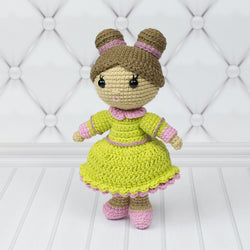 Little lady doll crochet pattern - printable PDF