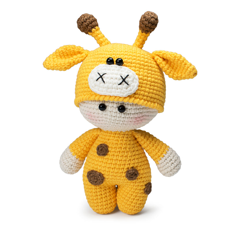 Amigurumi doll in giraffe outfit pattern - printable PDF
