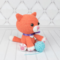 Ginger cat amigurumi pattern - printable PDF