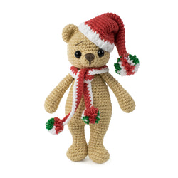 Christmas Cuddle Me Bear crochet pattern - printable PDF