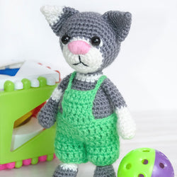 Toby the Cat amigurumi pattern - printable PDF