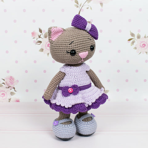 Crochet cat doll amigurumi pattern - printable PDF