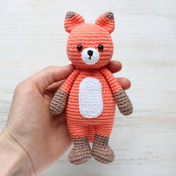 Cuddle Me Fox amigurumi pattern - printable PDF