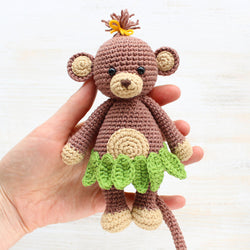 Cuddle Me Monkey Amigurumi Pattern - printable PDF