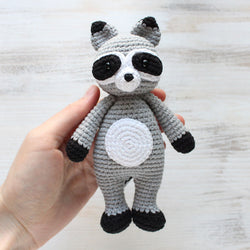 Cuddle Me Raccoon amigurumi pattern - printable PDF