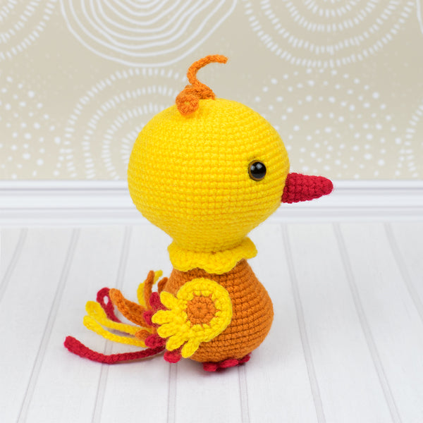 Nixy the Phoenix amigurumi pattern - printable PDF