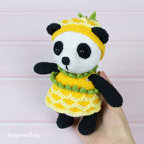 Pineapple Panda crochet pattern - printable PDF
