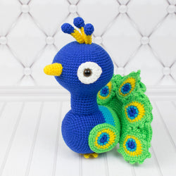 Paco the Peacock crochet pattern - printable PDF