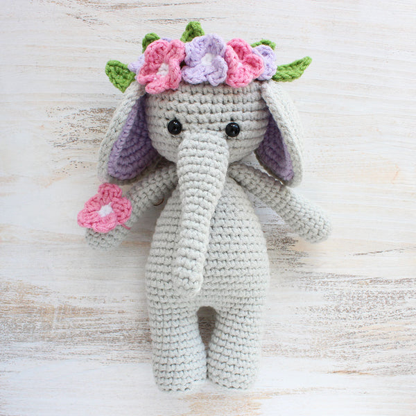 Cuddle Me Elephant Crochet Pattern - printable PDF