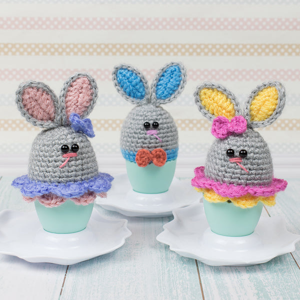 Easter bunny egg cozy crochet pattern - printable PDF