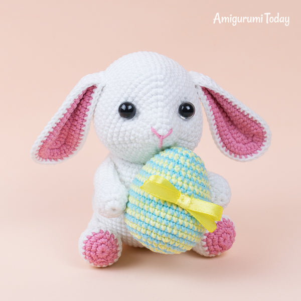 Amigurumi bunny with Easter egg - printable PDF