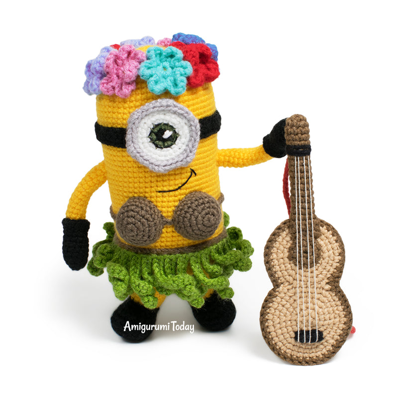 Hawaiian Minion crochet pattern - printable PDF
