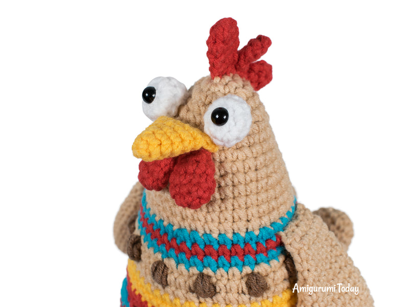 Easter chicken crochet pattern - printable PDF