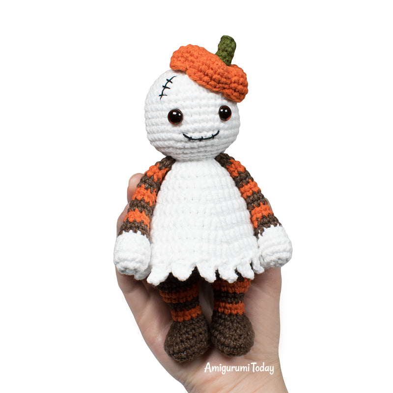 Halloween Cuddle Me Ghost crochet pattern - printable PDF