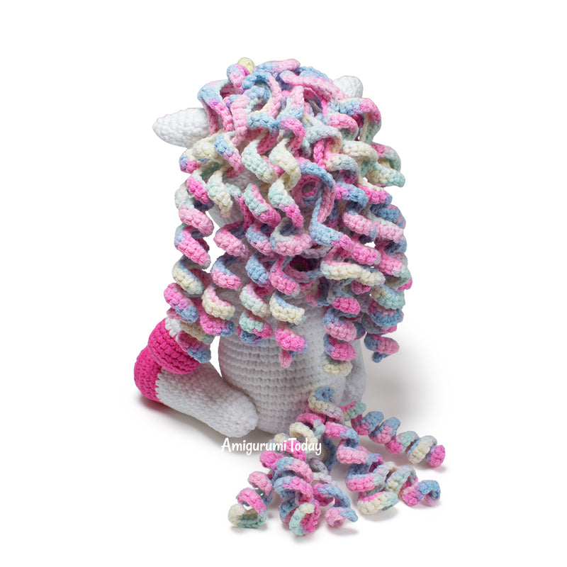 Luna the Unicorn crochet pattern - printable PDF