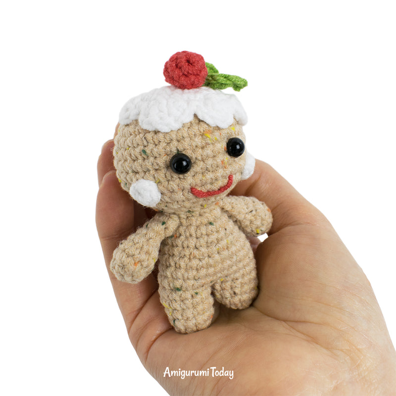 Gingerbread man amigurumi pattern - printable PDF