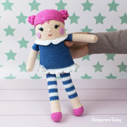 Crocheted rag doll pattern - printable PDF