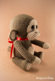 Naughty monkey crochet pattern - printable PDF