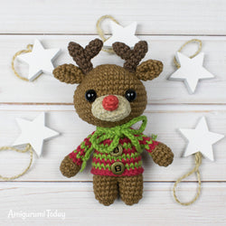 Tiny deer amigurumi pattern - printable PDF