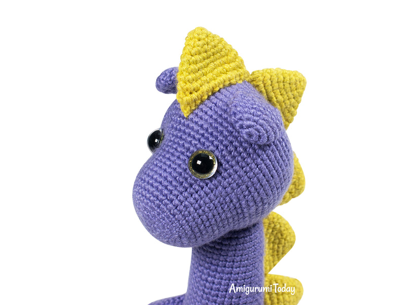 Spiky Dino crochet pattern - printable PDF