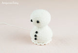 Ice Cream Snowman crochet pattern - printable PDF