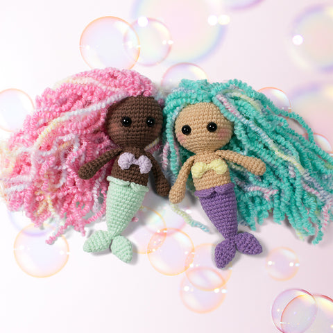 Little mermaid crochet pattern - printable PDF