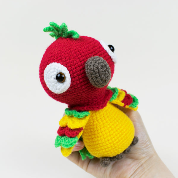 Pedro the Parrot crochet pattern - printable PDF