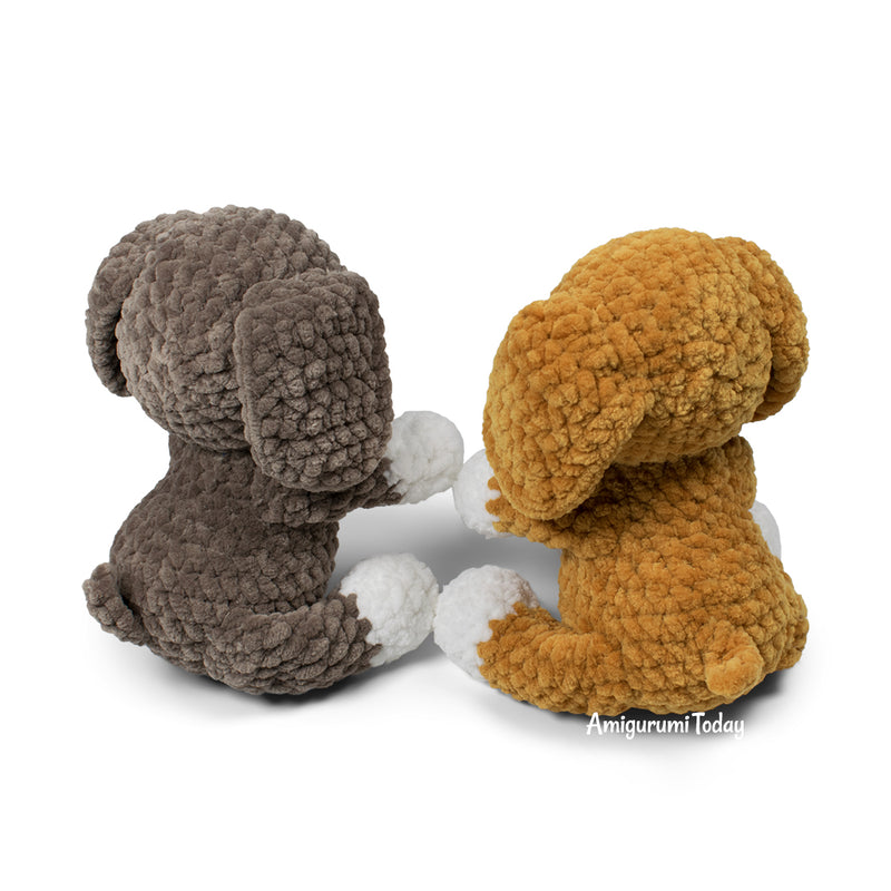Plush dog crochet pattern - printable PDF