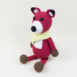 Red fox crochet pattern - printable PDF
