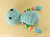 Stripy cat amigurumi pattern - printable PDF