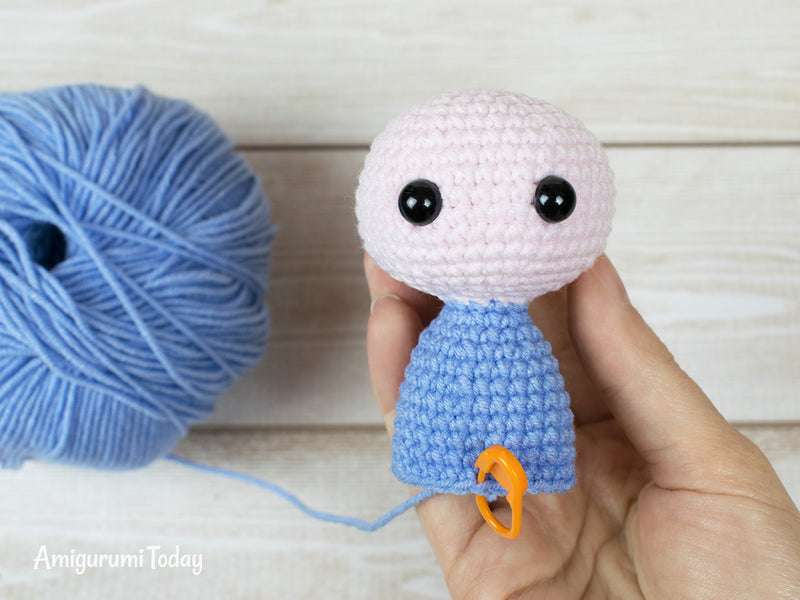 Tiny elephant amigurumi pattern - printable PDF