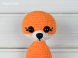 Tiny fox amigurumi pattern - printable PDF