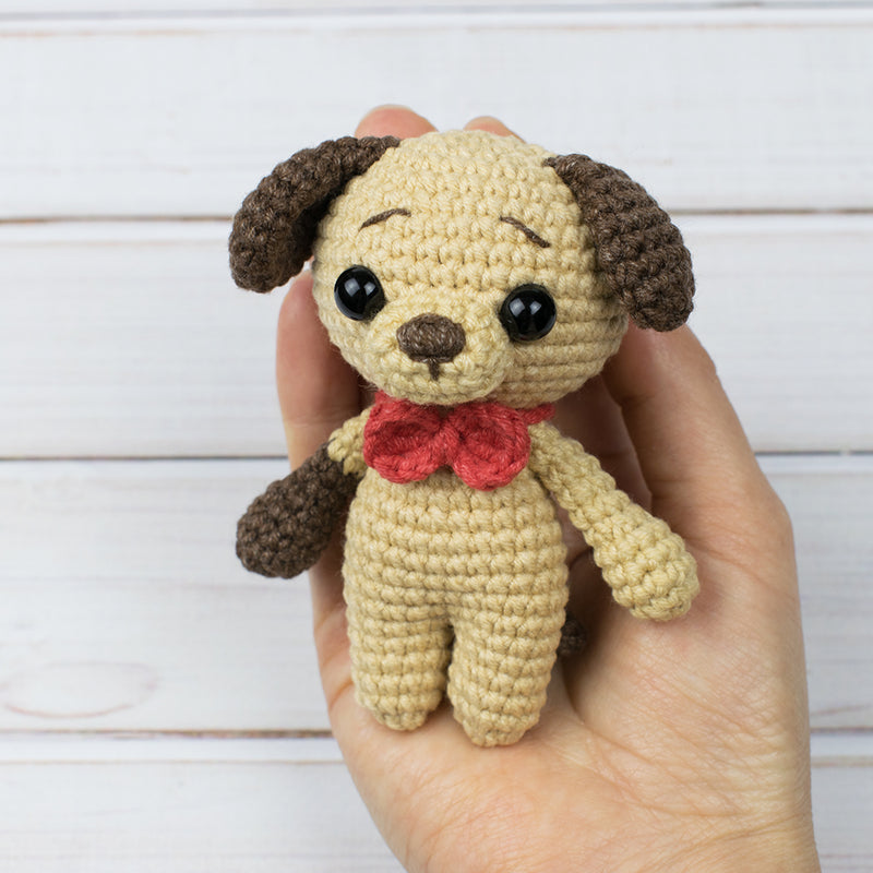 Tiny puppy amigurumi pattern - printable PDF