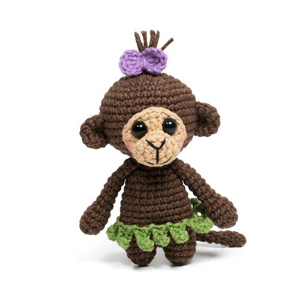 Tiny monkey crochet pattern - printable PDF