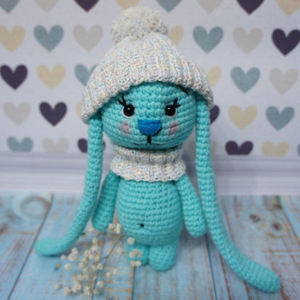 Amigurumi bunny with long ears - printable PDF