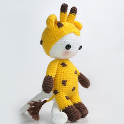 Amigurumi doll in giraffe costume - printable PDF