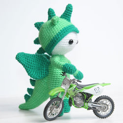 Amigurumi doll in dragon costume - printable PDF