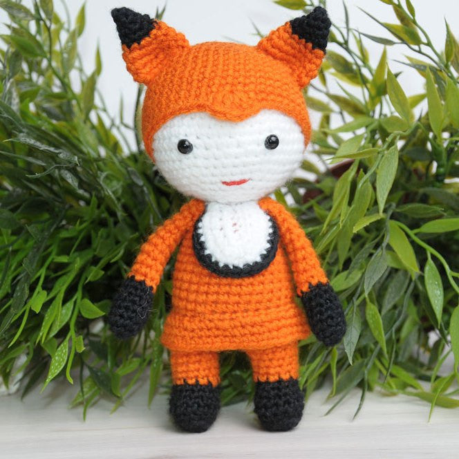 Amigurumi doll in fox costume - printable PDF Amigurumi ...