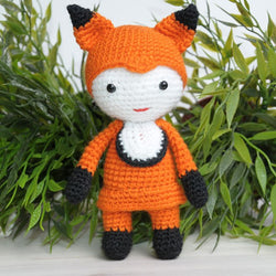 Amigurumi doll in fox costume - printable PDF