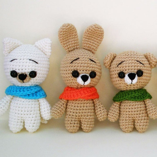 Crochet animal patterns - printable PDF