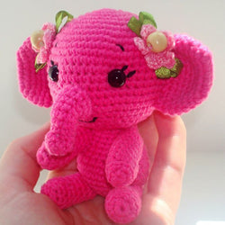crochet elephant pattern - printable PDF