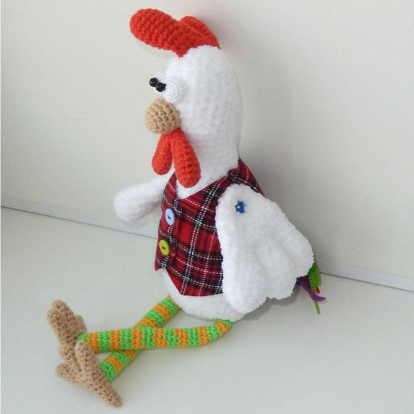 Funny rooster crochet pattern - printable PDF