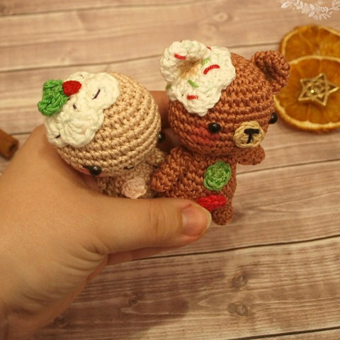 photograph about Gingerbread Man Patterns Printable referred to as Gingerbread male and teddy crochet designs - printable PDF