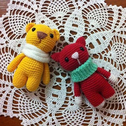 Marmalade animals crochet toy patterns - printable PDF