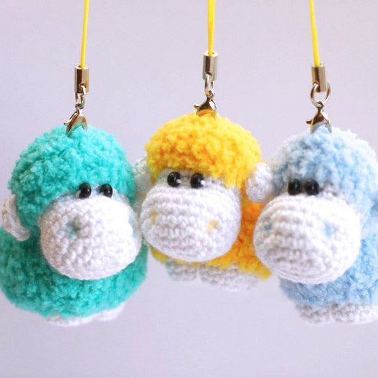 Sheep keychain  crochet pattern - printable PDF