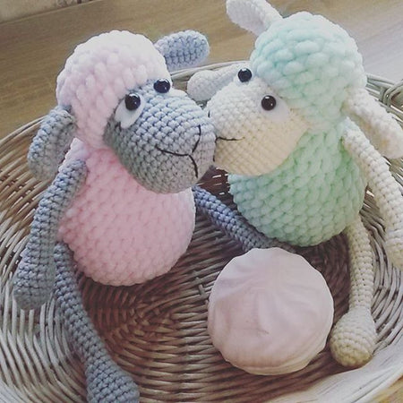Amigurumi sheep plush toy pattern - printable PDF